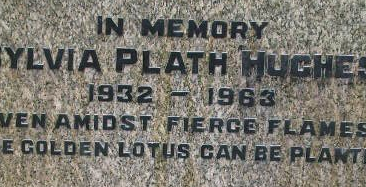 Epithet on Sylvia Plath's gravestone